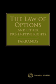 The Law of Options & Other Pre-emptive Rights