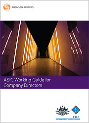 ASIC Working Guide for Company Directors
