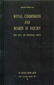 Royal Commissions & Boards of Enquiry - PDF
