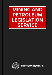 Mining and Petroleum Legislation (Cth): Online