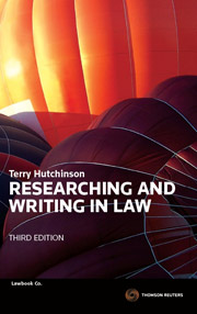 Researching and Writing in Law 3rd Edition