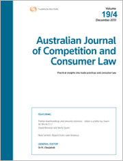 Australian Journal of Competition and Consumer Law: Parts