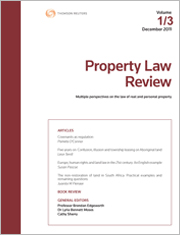 Property Law Review: Online