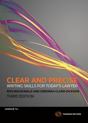 Clear & Precise Writing Skills for Today's Lawyer 3rd Edition