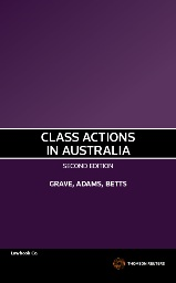 Class Actions in Australia 2nd Edition (Softcover)