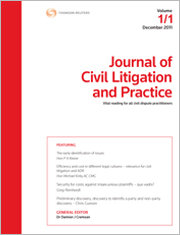 Journal of Civil Litigation and Practice: Parts