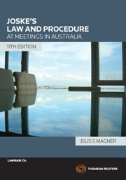 Joske's Law & Procedures at Meetings in Australia 11e