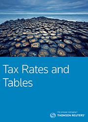 Tax Rates & Tables (WestlawAU)