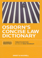 Osborn's Concise Law Dictionary 12th edition