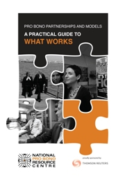 Pro Bono Partnerships and Models: A Practical Guide to What Works - PDF