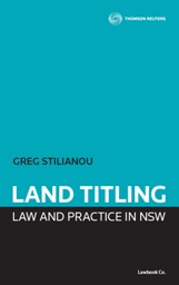 Land Titling Law and Practice in NSW - Book + eBook