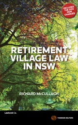 Retirement Village Law in NSW - ebook