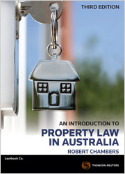An Introduction to Property Law in Australia 3rd edition