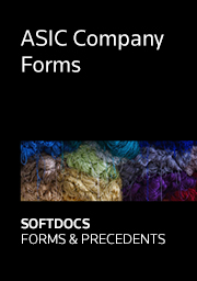 ASIC Company Forms - Softdocs Forms & Precedents