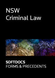 NSW Criminal Law - Softdocs Forms & Precedents