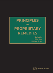 Principles of Proprietary Remedies ebook