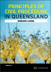 Principles of Civil Procedure in Queensland eBook
