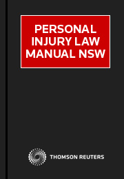 Personal Injury Law Manual NSW eSubscription
