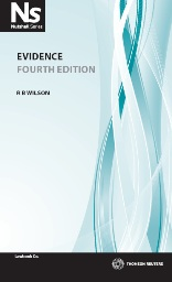 Nutshell: Evidence Law 4th Edition