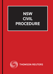 NSW Civil Procedure Looseleaf