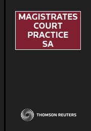 Magistrates Court Practice South Australia eSubscription