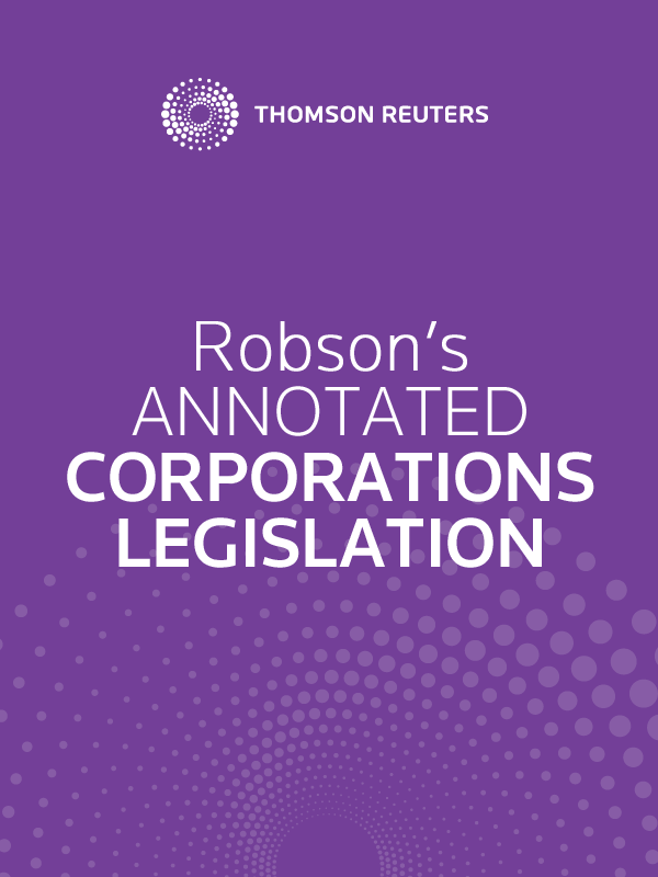 Robson's Annotated Corporations Legislation eSubscription
