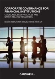 Corporate Governance for Financial Institutions