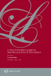 A Practitioner's Guide to the Regulation of Insurance 5th edition