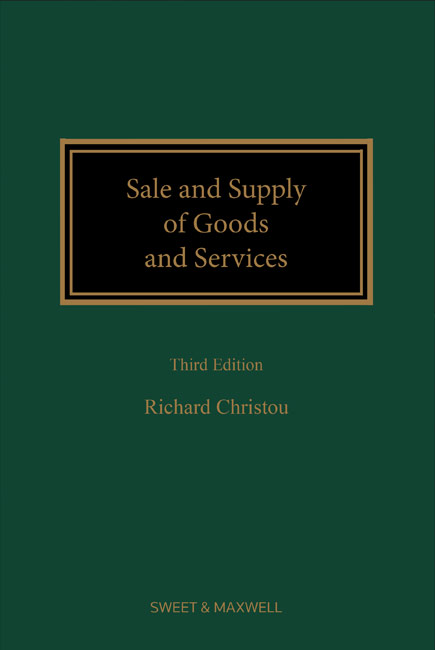 Sale and Supply of Goods and Services 3rd edition
