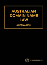 Australian Domain Name Law book+eBook