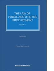 The Law of Public & Utilities Procurement 3rd edition Volume 1