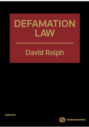Defamation Law 1st Edition - Book