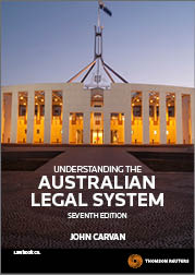 Understanding the Australian Legal System 7e ebook