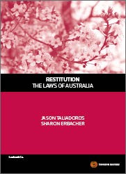 Restitution - The Laws of Australia 1e Book + Ebook