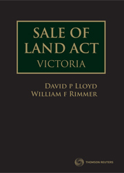 Sale of Land Act Victoria ebook