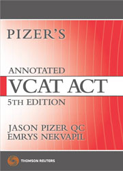 Pizer's Annotated VCAT Act 5e Book + Ebook