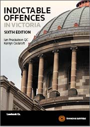 Indictable Offences in Victoria 6th Edition - Book