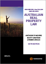 Australian Real Property Law 6th edition