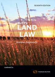 Butt's Land Law 7th edition