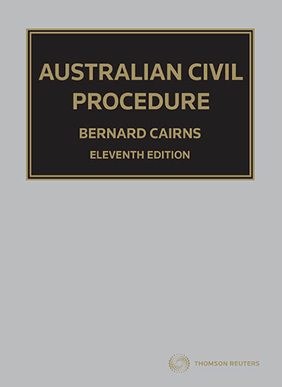 Australian Civil Procedure 11e book+ ebook