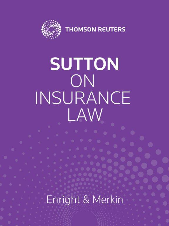 Sutton On Insurance Law Thomson Reuters Australia