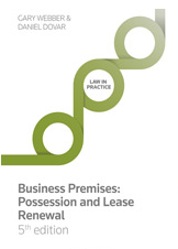 Webber: Business Premises: Possession and Lease Renewal 5th edition Book+eBook