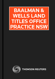 Baalman & Wells Land Titles Office Practice NSW eSubscription