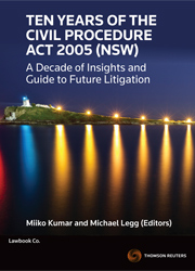 Ten Years of the Civil Procedure Act 2005 (NSW) eBook