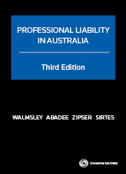 Professional Liability in Australia Third Edition - Hardcover