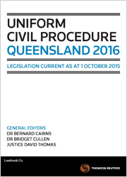 Uniform Civil Procedure Queensland 1e Book + Ebook