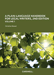 A Plain Language Handbook for Legal Writers, 2nd Edition