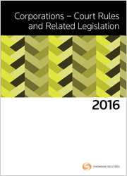 Corporations Court Rules and Related Leg 2016