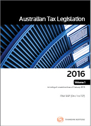 Australian Tax Legislation 2016 Volumes 1-3