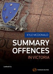 Summary Offences in Victoria 1e book + ebook